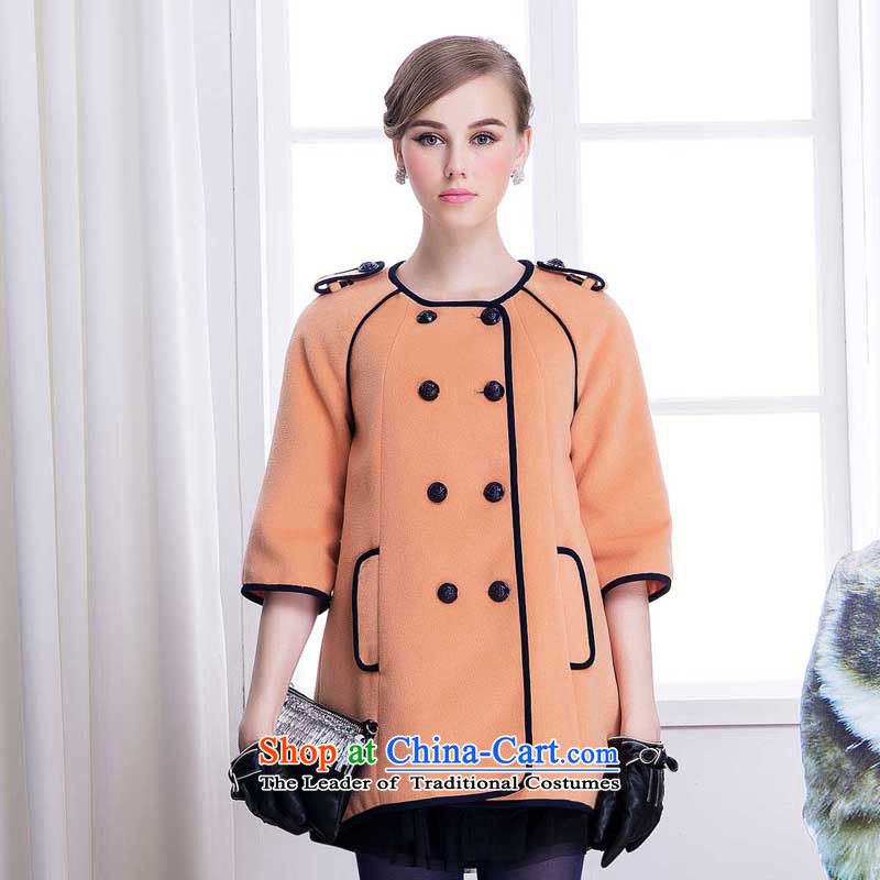 Chaplain who winter clothing new genuine female double-7 cuff coats jacket coat�4112115爐oner Orange�0_M