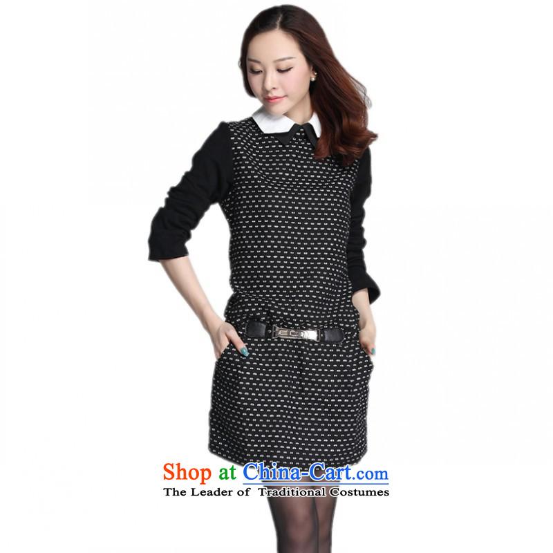 C.o.d. thick mm trendy code dresses Korean autumn replacing new small dot spell receive waist OL short skirts leisure wear skirts temperament gross? White燲L around 922.747 135