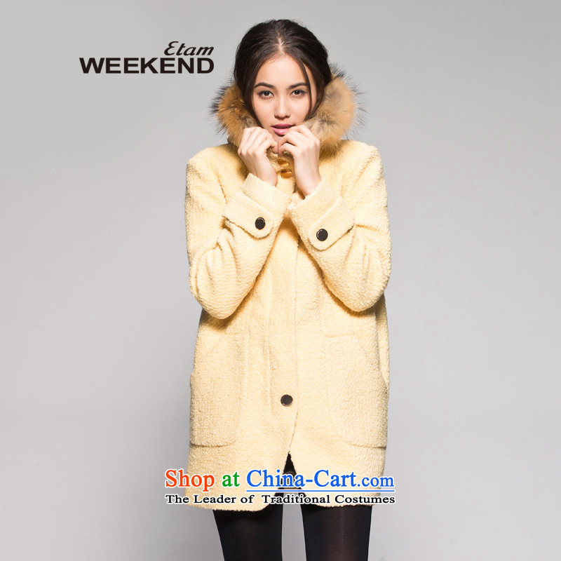 The WEEKEND in winter pure color circle long coats 14023411621 yellow 160_36_S lint-free
