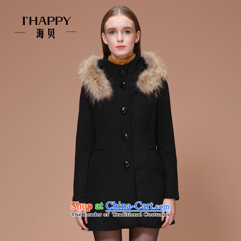 Seashell winter clothing new luxury true for pure colors gross Foutune of video in the thin long hair black jacket?燲L