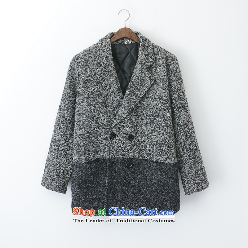The new 2015 to increase the number of women with thick mm autumn winter clothing trade gross boxed? thin cotton jacket coat king code 200 catties PJF gray 4XL_ recommendations around 170-190 microseconds catties_