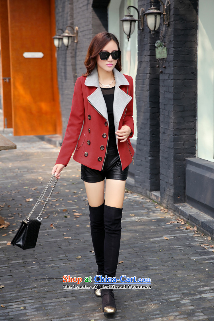 Michelle Gellar short of this jacket for winter 2015 new gross jacket Korean Beauty? graphics thin double-large lapel coats jacket coat pink color plane collision聽XL Photo, prices, brand platters! The elections are supplied in the national character of distribution, so action, buy now enjoy more preferential! As soon as possible.