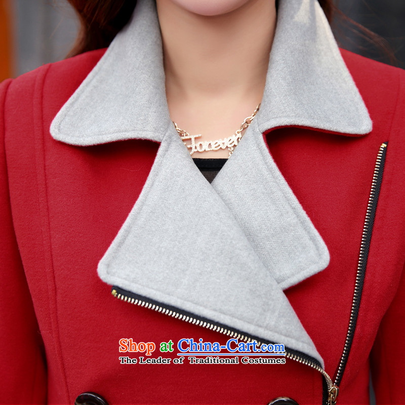 Michelle Gellar short of this jacket for winter 2015 new gross jacket Korean Beauty? graphics thin double-large lapel coats jacket coat pink color plane collision聽XL, Michelle Gellar XUEJIQING) , , , (of shopping on the Internet