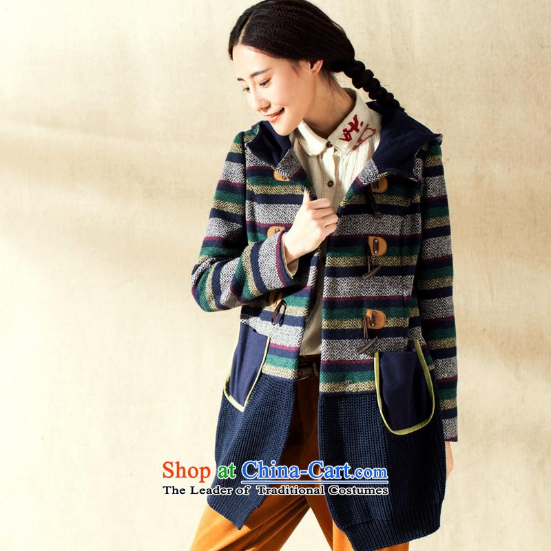 Athena Chu Cayman winter clothing new minimalist knocked color woolen streaks spell followed cap? _8443200215 female health and deep blue燲L