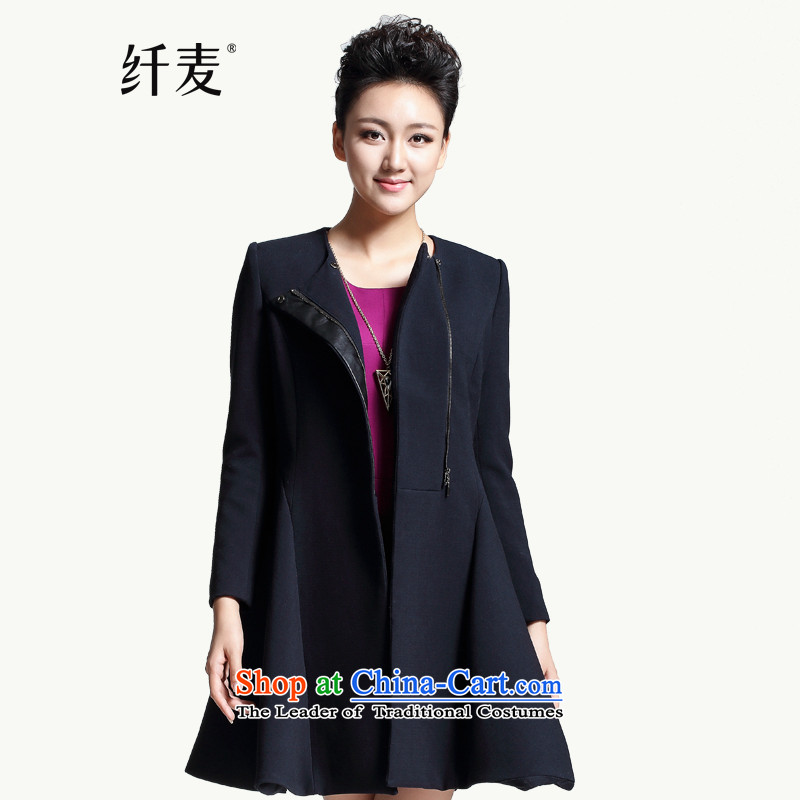 The former Yugoslavia Migdal Code women 2015 winter clothing new mm thick stylish relaxd A swing jacket in long 944187131 black�L