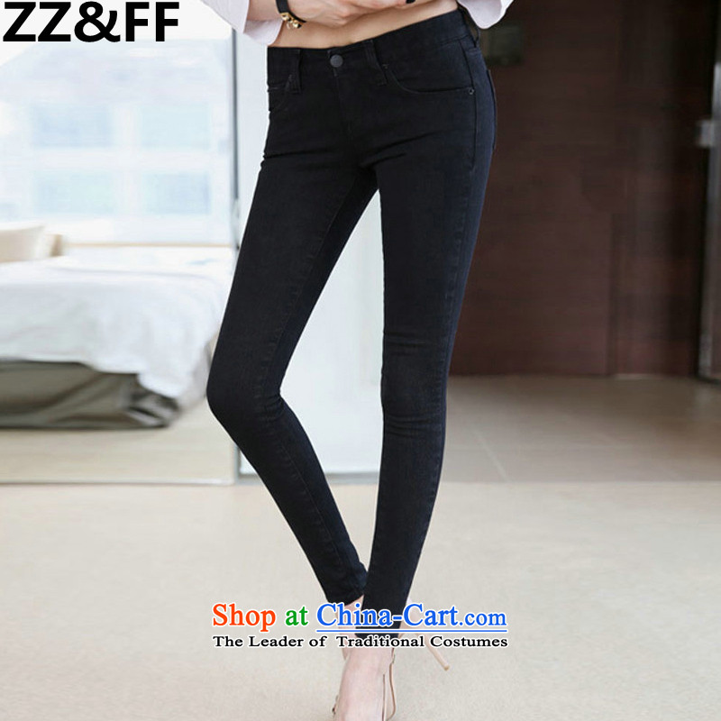 Install the latest Autumn 2015 Zz&ff) to increase the number of women with thick MM knitted elastic jeans pants 200 catties picture color38