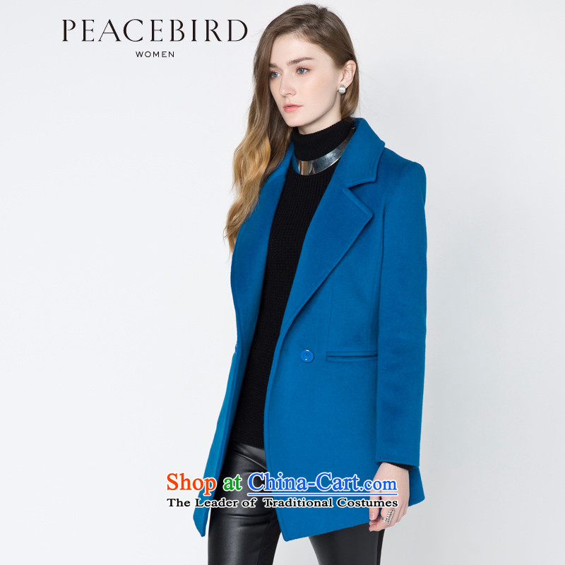- New shining peacebird women's health flip pocket A4AA44462 coats blueS