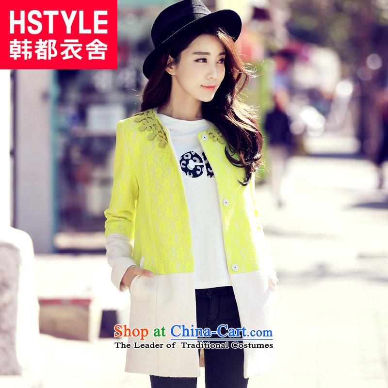 Korea has the Korean version of the Dag Hammarskj鰈d yi 2015 winter clothing new women's gross YK3240 jacket2爉eters? White燤