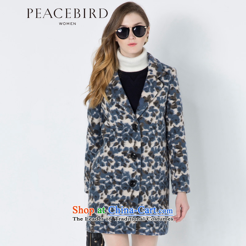 - New shining peacebird women's health stamp coats A4AA44545 blue motif燣