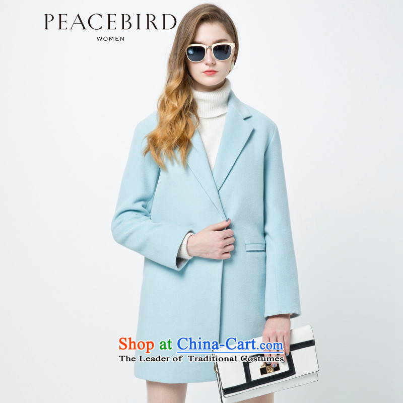 - New shining peacebird women's health and simple coats A4AA44549 BLUE燲L