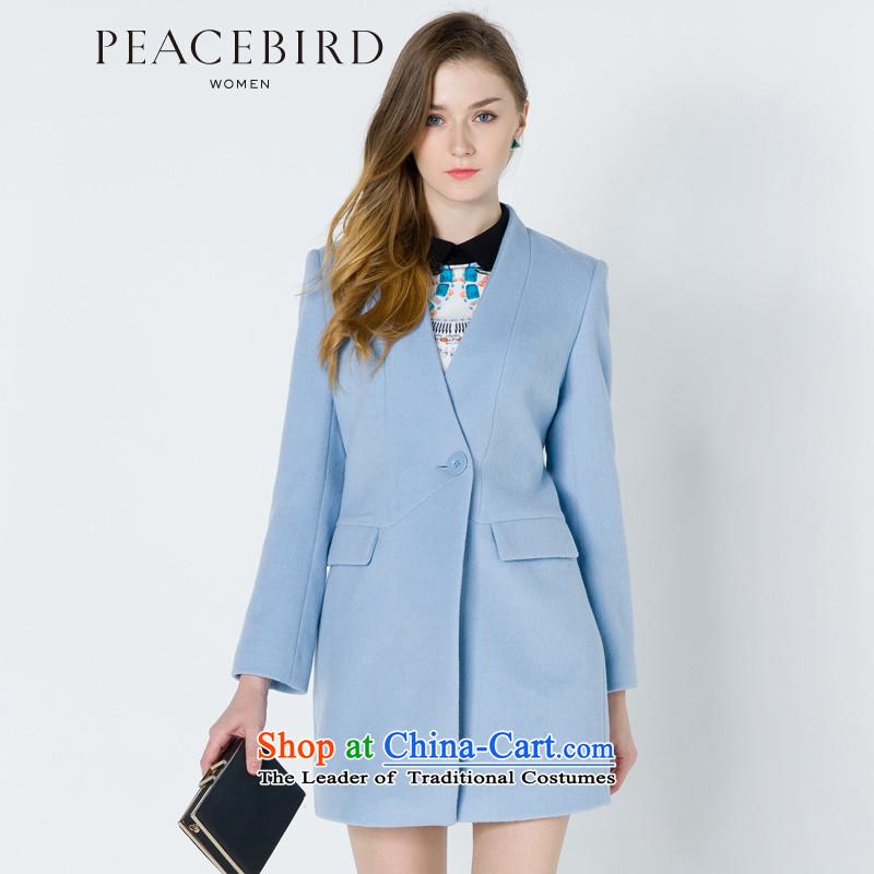 - New shining peacebird Women's Health 2014 winter clothing new one grain of detained coats A4AA44556 BLUE燣