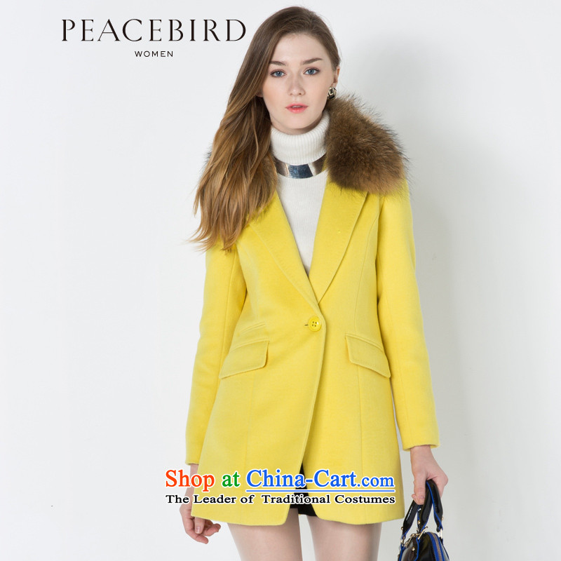 - New shining peacebird Women's Health 2014 winter clothing with gross for new coats A4AA44557 Yellow燤