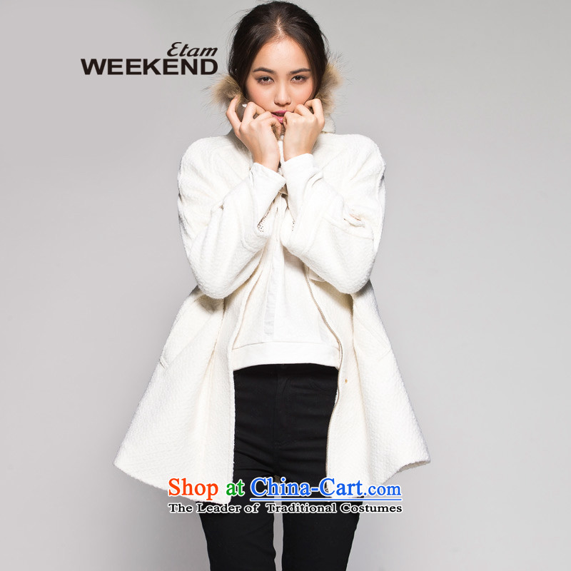 The燱EEKEND爄n winter pure color circle long coats 14023411586, lint-free this white�5_42_XL
