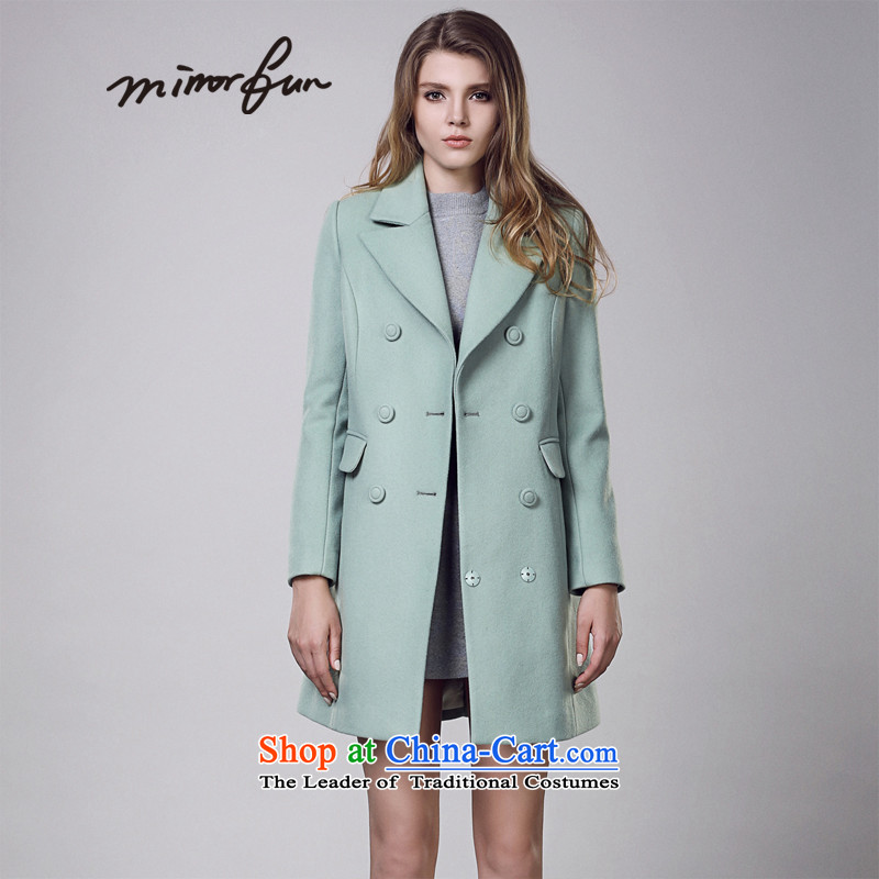Mirror FUN聽winter clothing new Wild rate of suits for double-H-pure color coats female M44911 MAK?