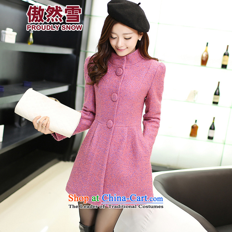 Proudly snow?2015 Fall/Winter Collections new thick small incense wind Sau San fashion, Long Hair Girl?NY82 jacket coat??The Red?M