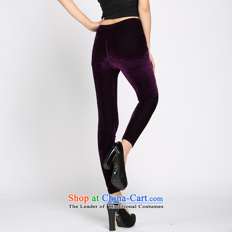 Shani flower, ladies pants autumn and winter trousers children video thin stretch elastic waist trousers Castor Leisure Wear Wool Pants Trousers, 4082 Kim purple5XL, shani flower sogni (D'oro) , , , shopping on the Internet