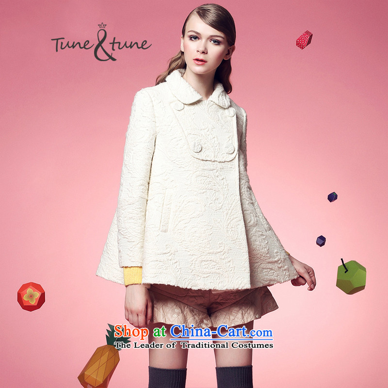 Tune to tune for爓inter new gold wire stereo jacquard fabrics A cloak燭44924燽eige燣