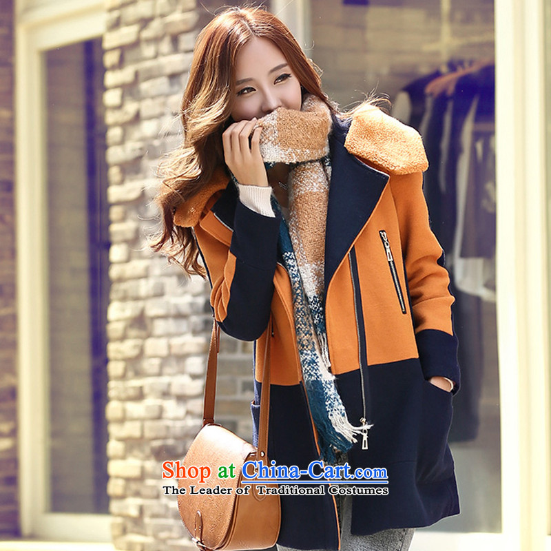 2015 winter clothing new Korean Sau San? jacket in gross thick long coats of female babies is the lamb long ANTHURIAM聽S