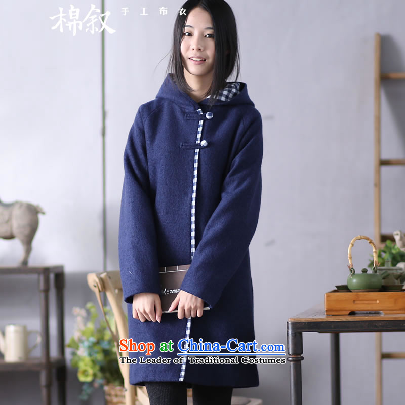 The 4,961 pages Syrian cotton autumn 2015 replacing the original spell colors?_? long coats that sub-jacket female navy M