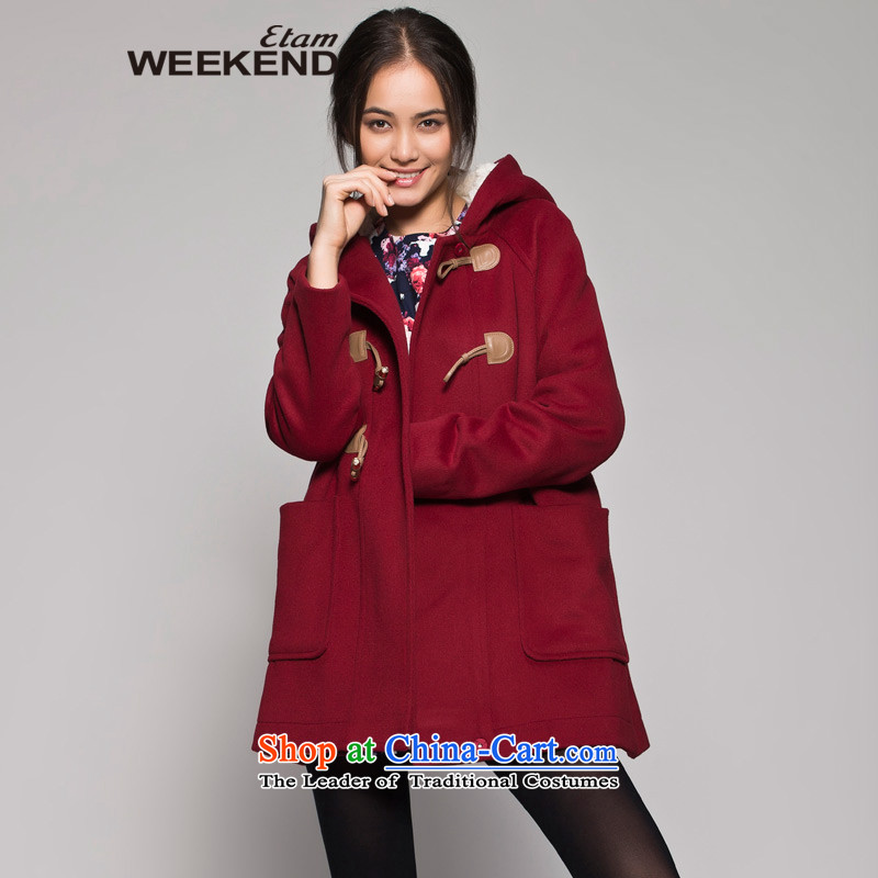The WEEKEND winter wine red horns is long coats 14023409909 170/40/L wine red