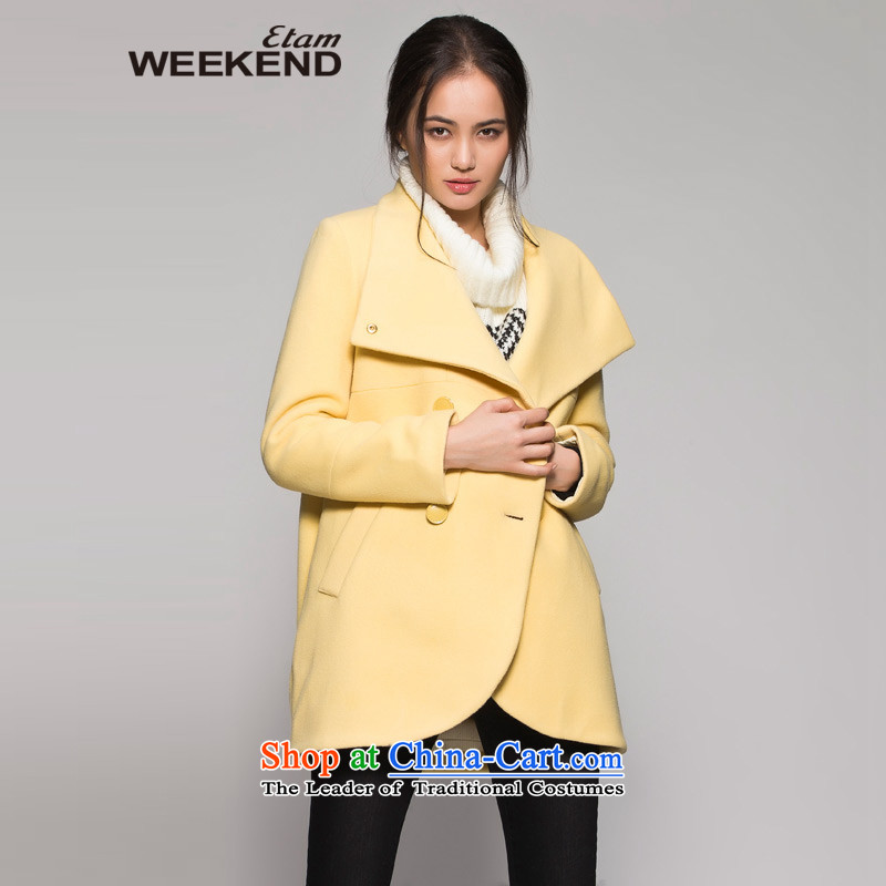 The?WEEKEND?winter large roll collar jacket 14023418721 gross yellow?38_M?