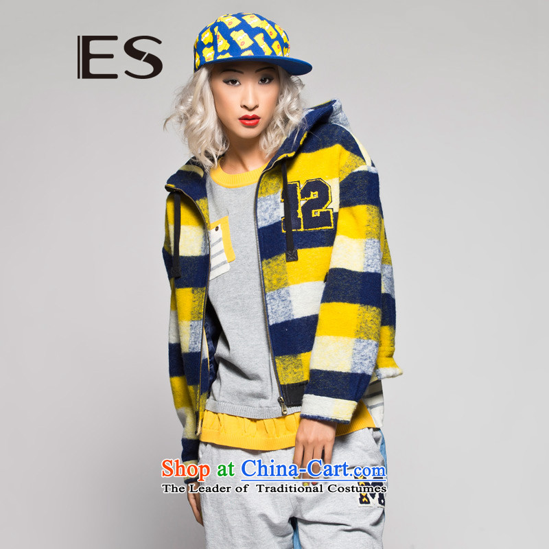 TheESwinter plaid spell color cap gross 14032111521 jacket yellow170_40_L?
