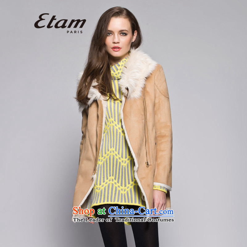 Etam ETAM winter zip pocket fur coats 14013408770 one light and color 155_34_XS