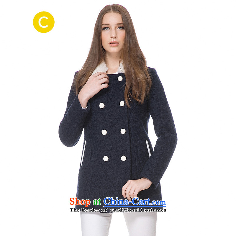Cachecache燢orea stylish and elegant blue removable Gross Gross coats�62036420 for?爊avy blue燣