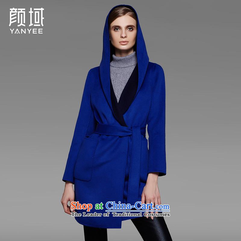 Mr NGAN domain 2015 autumn and winter new larger women in long woolen coat Korean jacket�W4588 duplex gross燩o Lan?燣_40