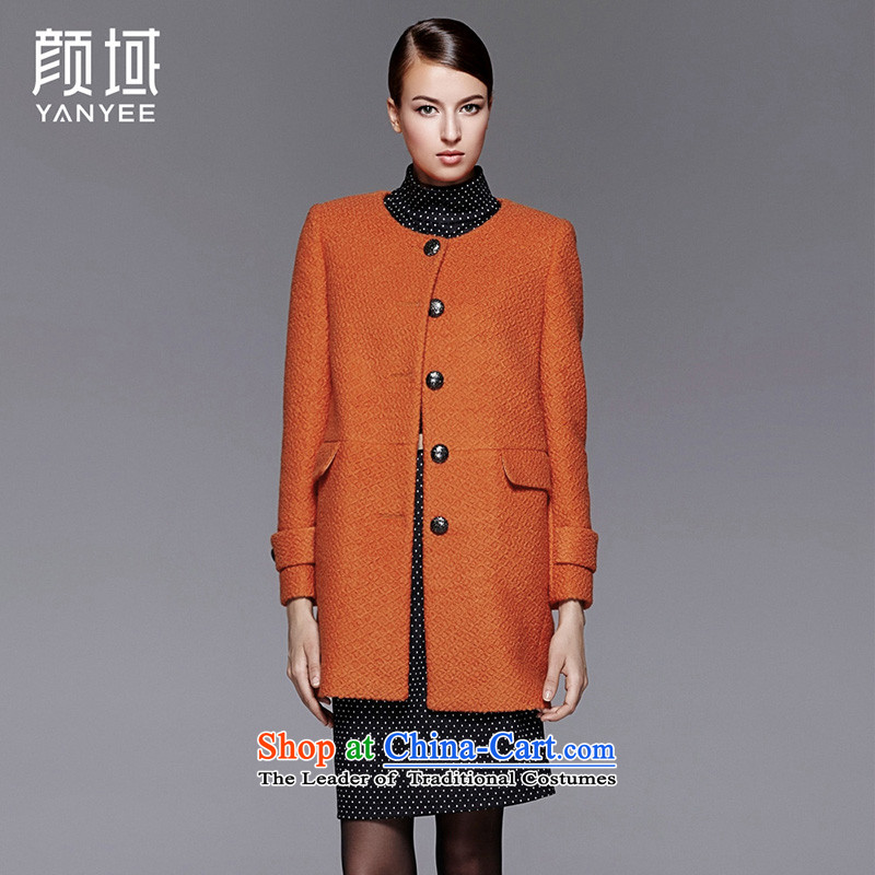 Mr NGAN domain 2015 autumn and winter new women's loose knitting coats female jacket for autumn and winter single row is long hair??orange?S/36 04W4600 Jacket