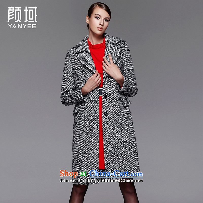 Mr NGAN domain 2015 autumn and winter new name yuan small incense in gross? jacket wind long lapel wool a wool coat women�W4607牋M_38 black