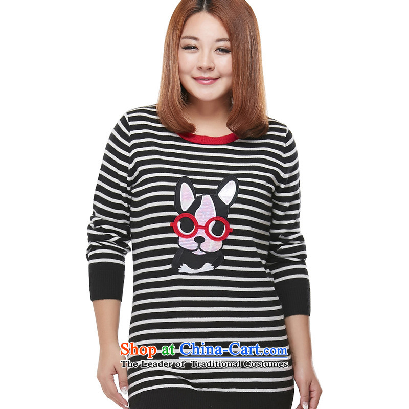 In the xl msshe long black sweater,2XL