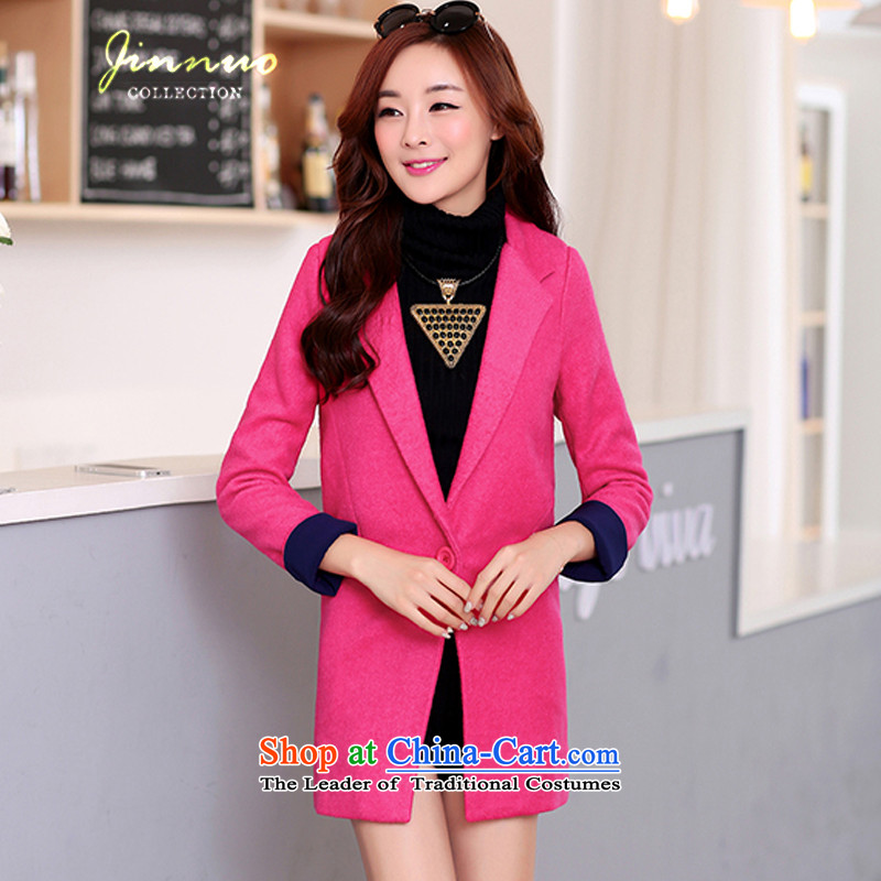The world of Kam Yuet 2104 Women's clothes in the long a grain of detained colors can spell Sau San coats jacket Connie sub clothes in red thick燤