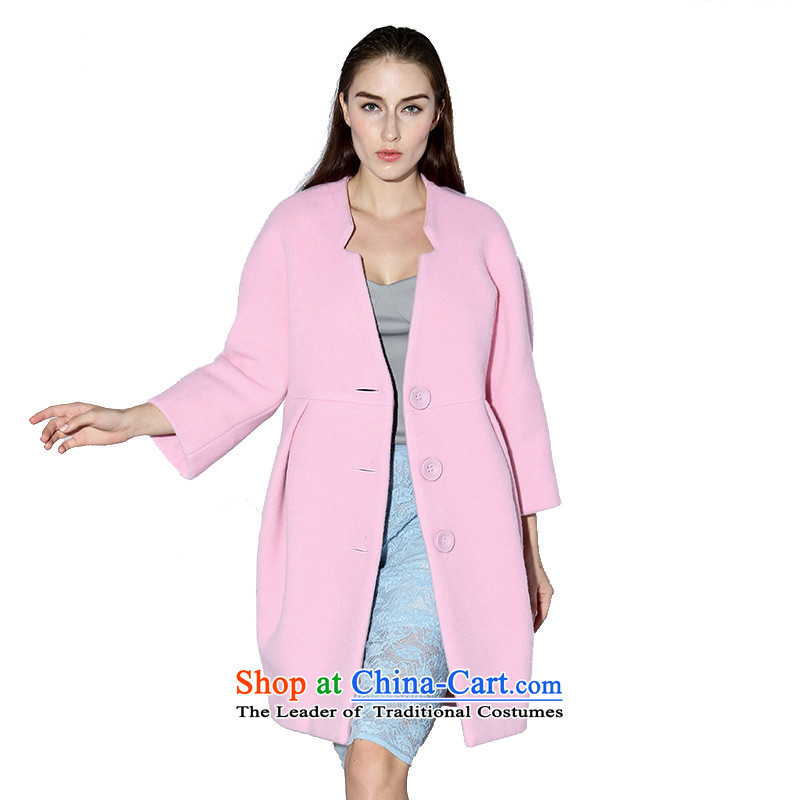 The DAZZLE to women of modern color Dragon Card Ma long coats 244G255 gross? pink M