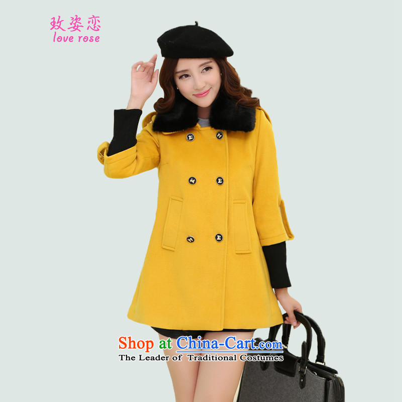 In 2014 Winter Land Gigi Lai new coats female Korea gross? Edition Fall_Winter Collections gross? Simple jacket for the gross amount is     coats female Yellow燤