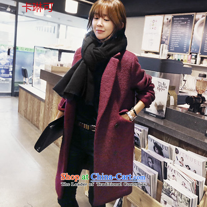 Carleen gross coats female Korean Eduxin Home? 2015 winter clothing new double-thick wool coat suits for about what Korean long coats female picture color燬