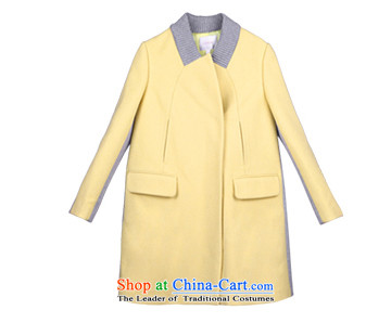 Song Leah GOELIA winter clothing new ribbed collar Small type A long coats 14DJ6E100 Y22# yellow M(160/84a) picture, prices, brand platters! The elections are supplied in the national character of distribution, so action, buy now enjoy more preferential! As soon as possible.