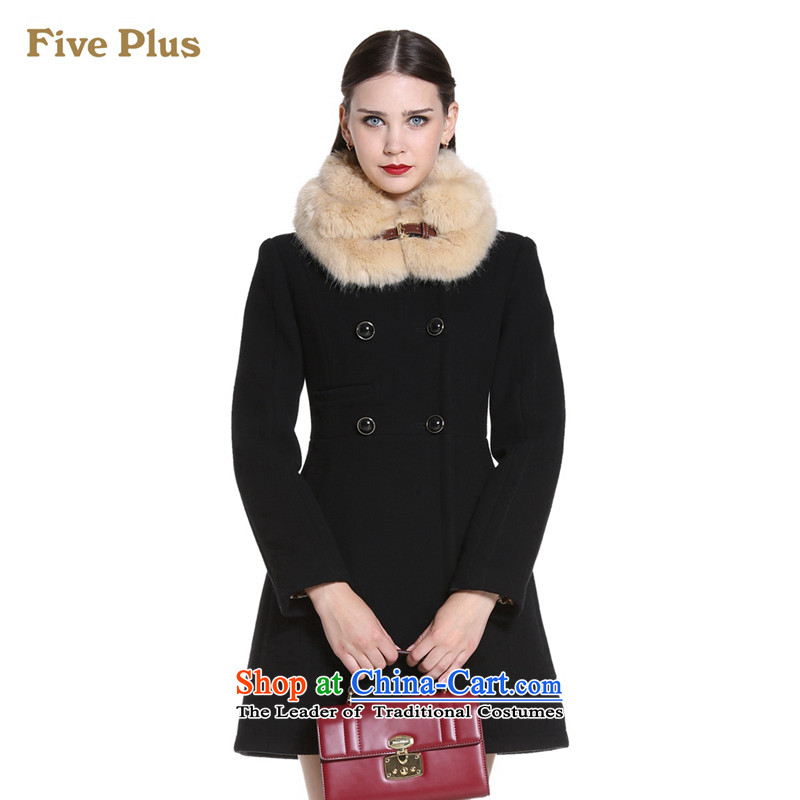 Five new female winter clothing plus elegant for loose in the gross long double-jacket 2144344110 gross? black S(160/84a) 090