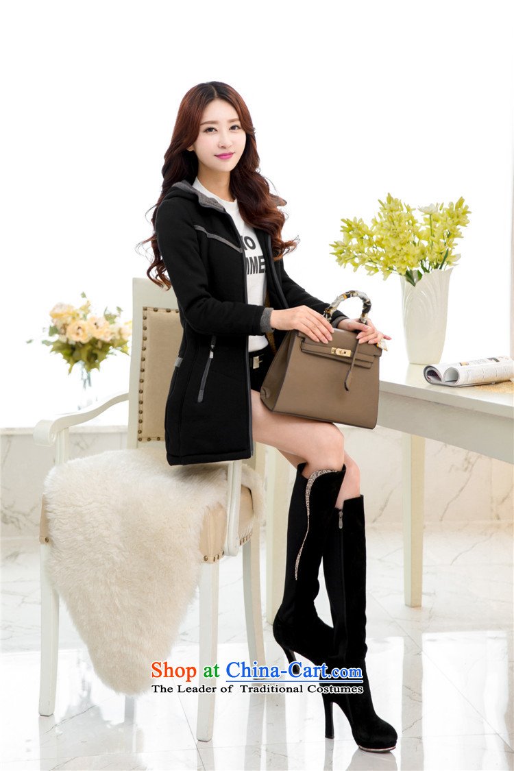 2015 Autumn and winter new Korean women xl plus the lint-free cotton waffle warm with cap Sau San Wai jacket video thin black (plus) XXXL lint-free cotton picture, prices, brand platters! The elections are supplied in the national character of distribution, so action, buy now enjoy more preferential! As soon as possible.