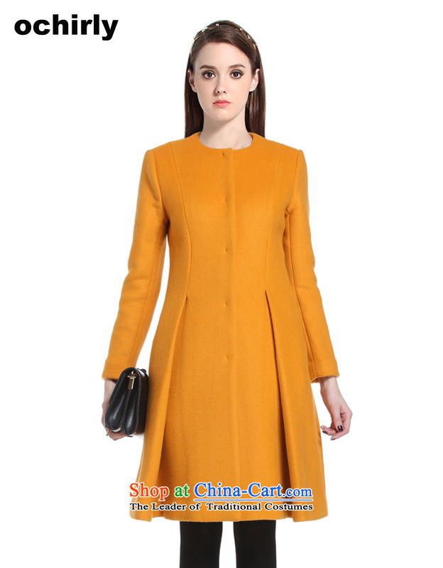 The new Europe, ochirly female foutune petticoats type long, thick wool overcoats 1144341140? bisque M_165_88a_ 022