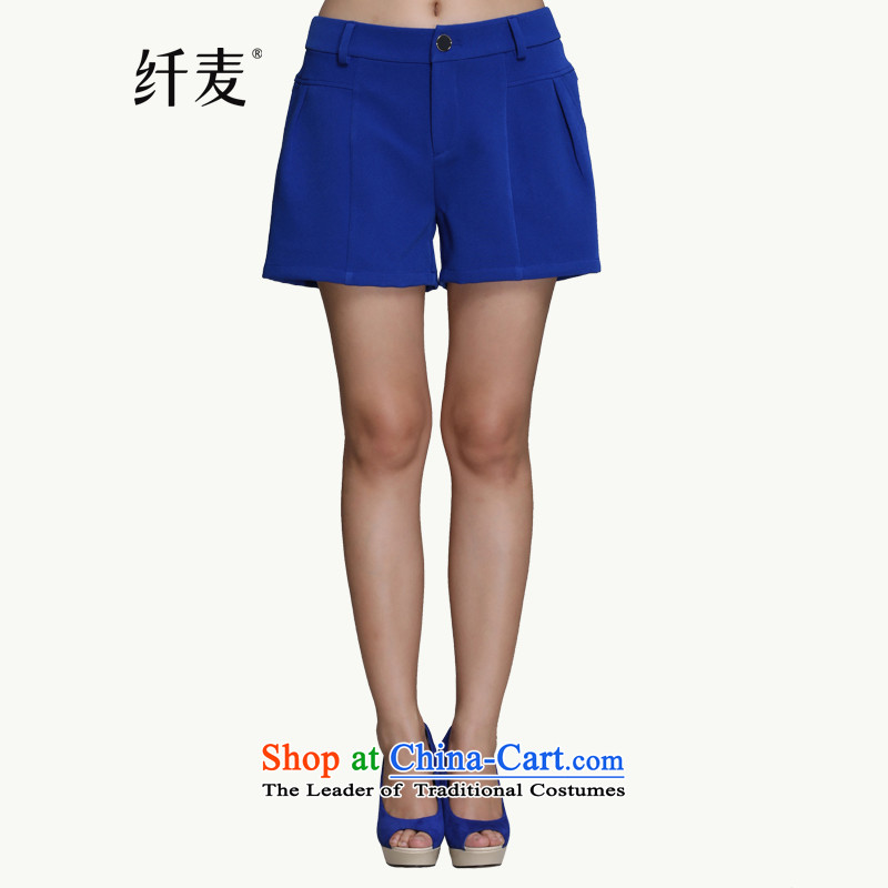 In the former Yugoslavia is indeed intensify code mecca for women 2015 Spring new stylish mm thick commuter loose shorts9510945413XL blue