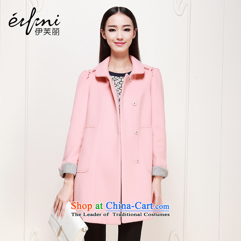 Of the 2015 winter clothing new Lai, a woolen coat loose female gross flows of coat 6480927227? pink S