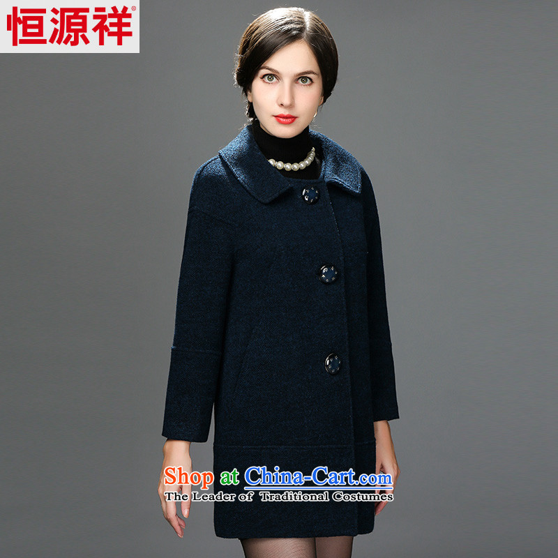 Hengyuan Cheung 2014 winter in new women's mother a load of older winter jackets wool coat 3,056 3-11A, ASIA? blue�0_92A_XL_