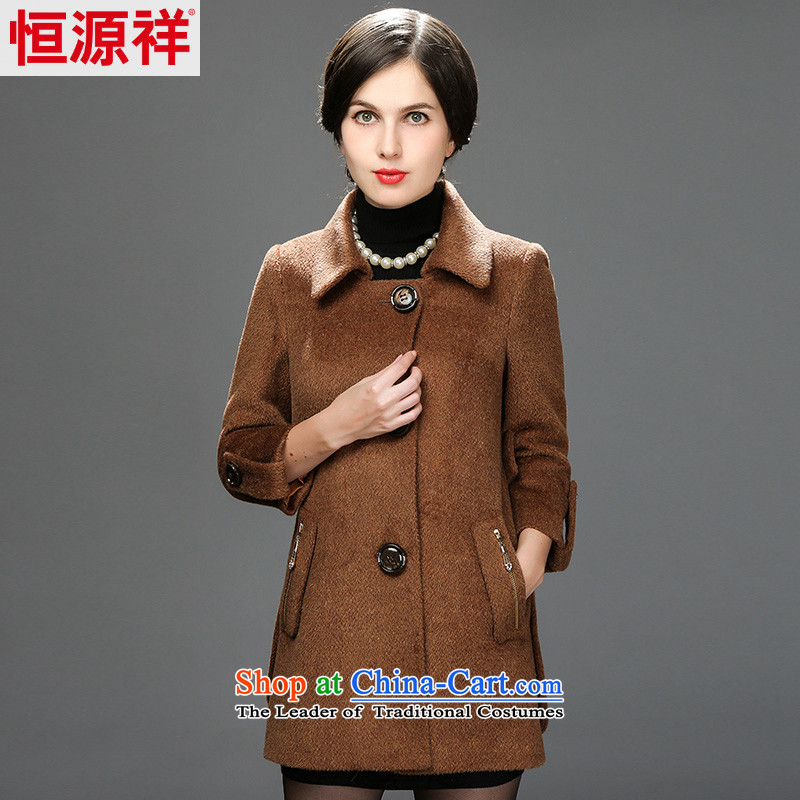Hengyuan Cheung 2014 winter new women's elderly mother woolen coats a winter of this jacket and dark�0_100A_3XL_ 2569TH 6_