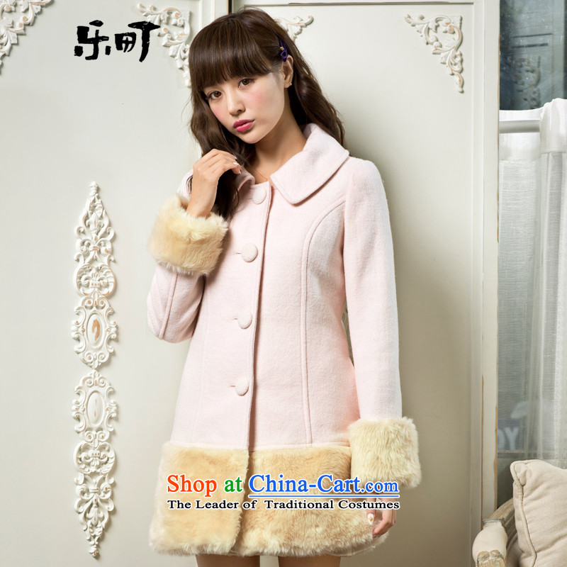 Lok-machi 2015 winter clothing new date of women under the rough edges long coats C3AA34A10 whiteS