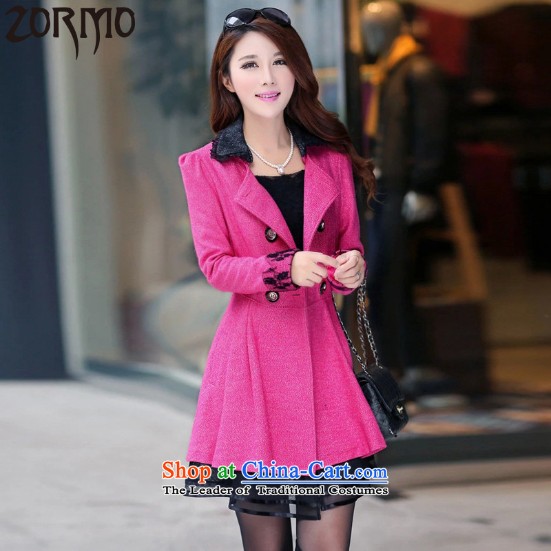 The new winter 2015 ZORMO Korean version of fat mm to xl a skirt in long coats of King 6XL red 200-225 catty