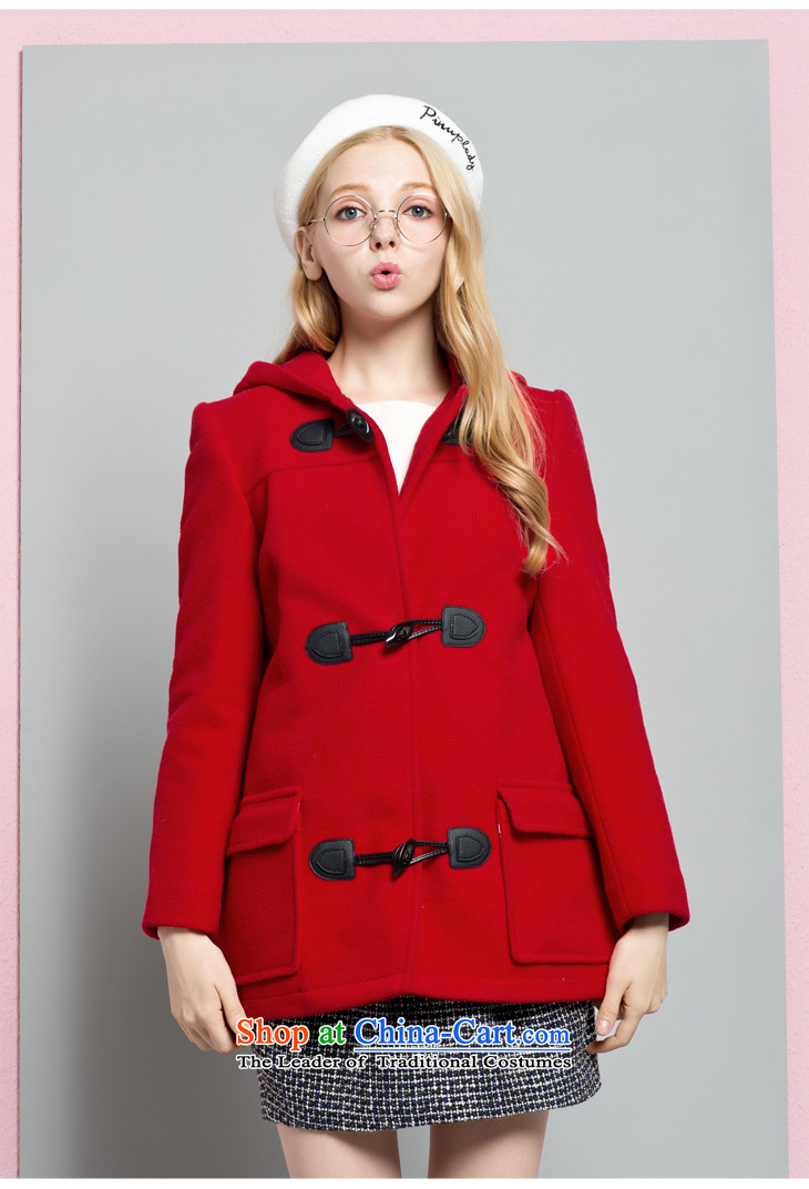 Lok-machi 2015 winter clothing new date of women detained coats CWAA44527 horns REDM picture, prices, brand platters! The elections are supplied in the national character of distribution, so action, buy now enjoy more preferential! As soon as possible.