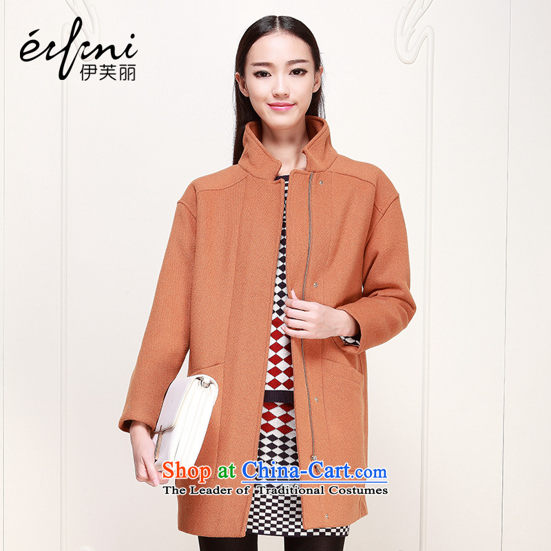 Of the 2015 autumn and winter, the new Korean fleece long collar jacket coat 6480947917 gross? caramel燬