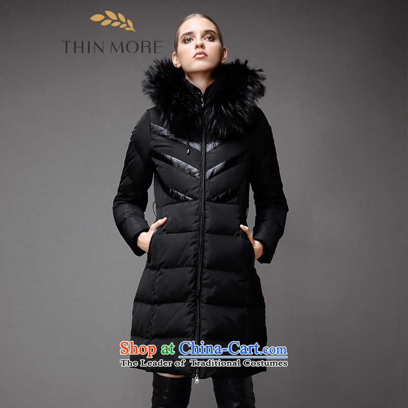 The former Yugoslavia Mak large high-end women 2015 Autumn replacing the new mm thick temperament loose downcoat844121079 long-sleevedblack4XL