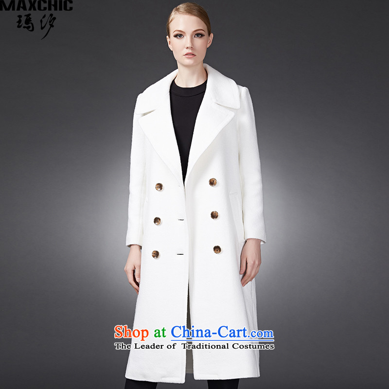 Marguerite Hsichih maxchic 2015 autumn and winter, Europe and neat and poised. Double-suit for long coats Female�002燱hite燤